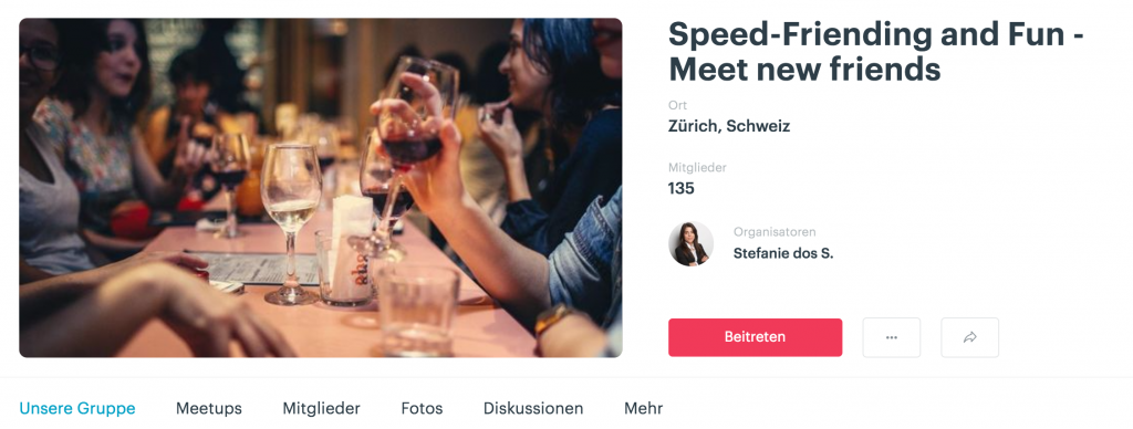 Speedfriending Meetup Group